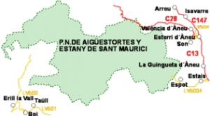Access to Aiguestortes National Park and Lake Sant Maurici