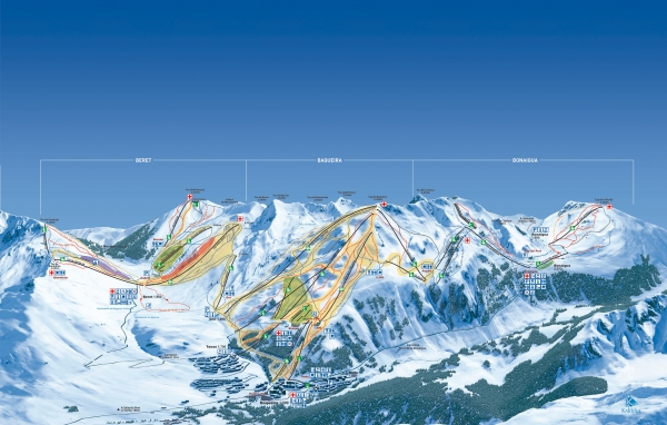 Ski slopes Maps Baqueira