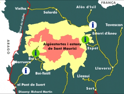 Location of National Park Aigüestortes